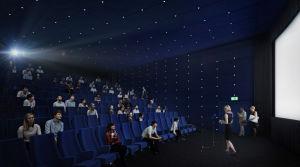 Keskustakirjasto Oodin elokuvasali (havainnekuva).
