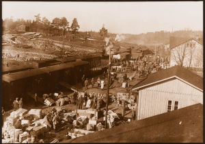 Valkoisia Hannilan asemalla 26.4.1918.