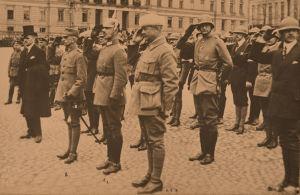 Jääkäriprikaatin paraati Helsingissä 28.4.1918.