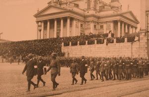 Helsingin Jääkäriprikaatin paraati 28.4.1918.