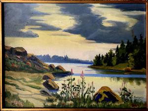 Knut Kankaan maisemamaalaus, taulu vuodelta 1925.