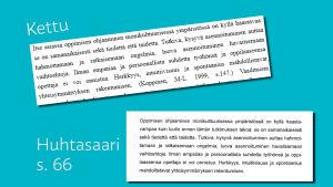 Exempel på plagiat i Huhtasaaris gradu