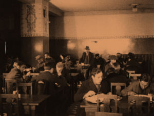 Elannon ravintola 1920-luvulla Siltasaarenkatu.
