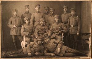 Jääkäreitä ennen Raudun taistelua 1918