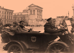 Saksalaisia sotilaita Helsingissä 14.4.1918.