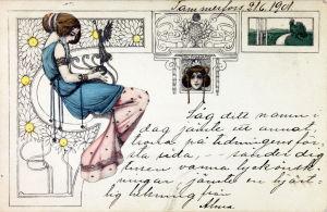 Postkort från år 1901.