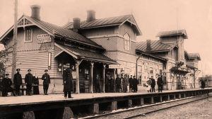Valkeasaaren rautatieasema 1900-luvun alussa.