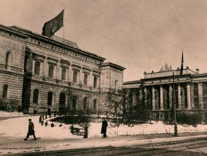 Suomen Pankki vuodenvaihteessa 1917-1918.