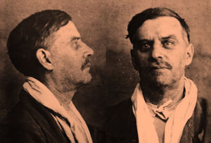 Edvard Gylling pidätettynä Moskovassa 1937.