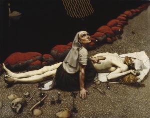 Bild på tavlan Lemminkäinens moder, 1897, av Akseli Gallen-Kallela