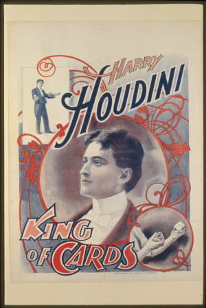 Harry Houdini. King of Cards -juliste 1895.