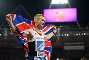 Greg Rutherford under OS i London.