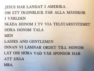 """En dikt av Lars Huldén ur samlingen """"Spöfågel"""" (1964)"""