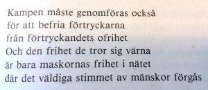 """En dikt av Claes Andersson ur samlingen """"Trädens sånger"""" (1979)"""