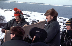 Åke Lindman filmar