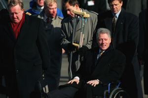 Bill Clinton i rullstol och Martti Ahtisaari, 1997