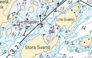 Grundstötningar vid Svartö i Porkala.