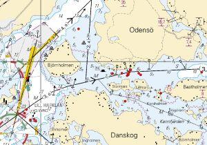 Grundstötningar vid Odensö i Hangö.