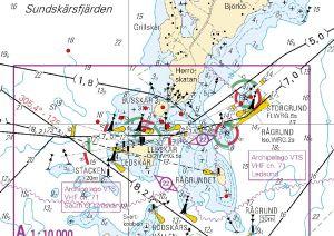 Grundstötningar vid Ledskär på Åland.