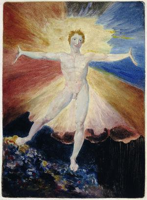 William Blakes akvarell Albion Rose