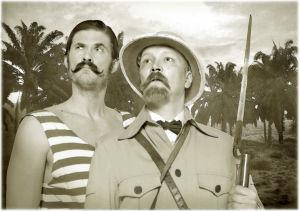 Tommi Korpela ja Janne Reinikainen (Lordi Duncan Hastings ja Northcumberlandin jaarli McDouglas)