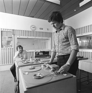 Seppo Pyysalo ja Juha Junnonen Lappeenrannan aluekeskuksessa 1972
