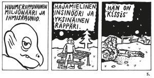 Jyrki Nissisen uusi sarjakuva Konkurssi taivaassa
