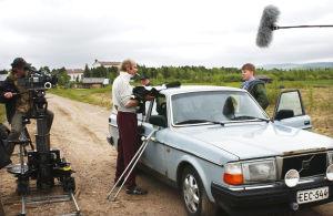 Tuulikaappimaan kuvauksissa (2003).