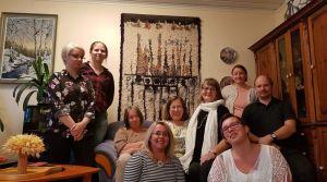 TeSi ry Pohjois-Savoon kuuluvia henkilöitä ryhmäkuvassa