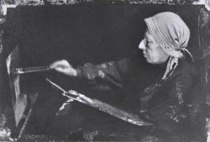 Venny Soldan-Brofeldt maalaa (1930-luku).