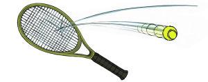 Tennismaila ja tennispallo