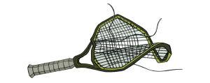 Rikkinäinen tennismaila