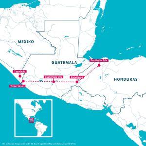 Karta över Centralamerika