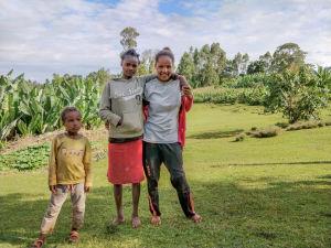 Etiopialaisia lapsia maaseudulla