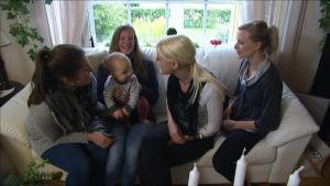 Teresa, Linda, Heidi ja Johanna