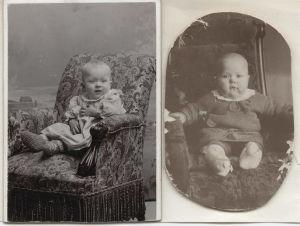 Meri Louhos alle 1-vuotiaana.