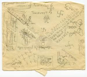 Merille osoitettu kirje toukokuulta 1942.