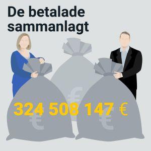 De betalade sammanlagt 324 508 147€.