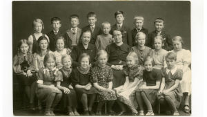 Meri Kotkassa valmistavan koulun kolmannella luokalla 1938.