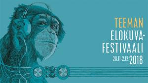 Teeman syksyn 2018 elokuvafestivaalin juliste, vaakasuora taustakuvaversio