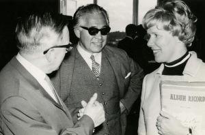 Karl Hudez, Peter Klein ja Meri Louhos Savonlinnan oopperakursilla 1960-luvun alussa.