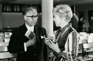 Meri Louhos ja Peter Klein Savonlinnassa 1960-luvulla.