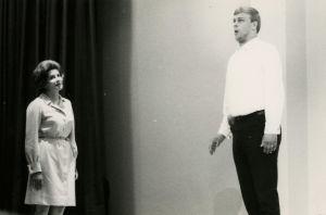 Matti Salminen oopperakurssilla Savonlinnassa 1960-luvulla.
