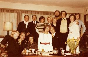 Juhlat Kari Suomalaisen kotona 1970-luvulla.