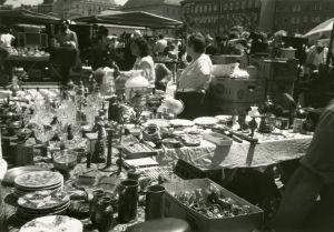 Wienin Nasmarkt 1950-luvun lopulla.