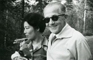 Richard Hauser ja vaimonsa.