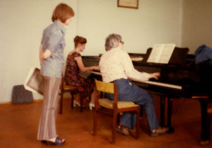Lev Naumovin luokka Moskovan konservatoriossa 1978.