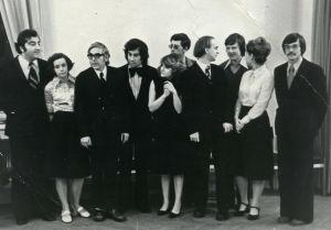 Lev Naumov ja Moskovan konservatorion oppilaita 1978.