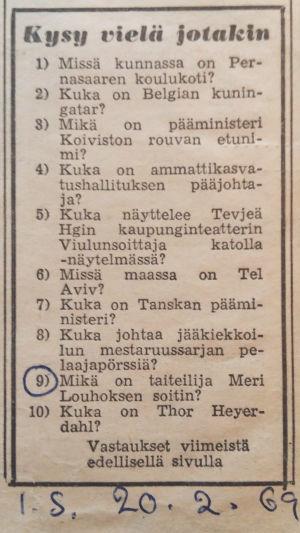 Lehtileike Ilta-Sanomat Kysy vielä jotain -palsta: Mikä on taiteilija Meri Louhoksen soitin?