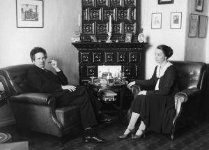 Yrjö ja Margaret Kilpinen kotonaan 1. huhtikuuta 1931.